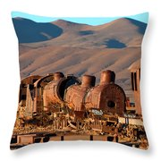 Rust In Peace Throw Pillow by James Brunker
