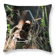 Rust In The Woods Throw Pillow