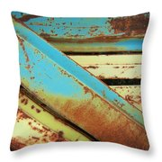 Rust N Turquoise Throw Pillow