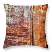 Rust Rules Throw Pillow