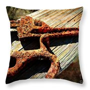 Rust Tools II With Texture Throw Pillow