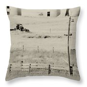 Rust Wind And Time Are Not Kind Throw Pillow