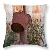 Rusted And Out Of Use Throw Pillow