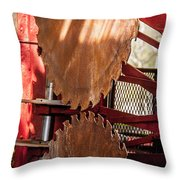 Rusted Blades Throw Pillow