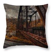 Rusted Bridge Throw Pillow