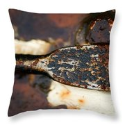 Rusted Camouflage Throw Pillow