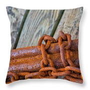 Rusted Chained Throw Pillow