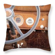 Rusted Dash Of Classic Car Throw Pillow