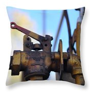 Rusted Flagg Valve Throw Pillow