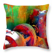 Rusted Glory 4 Throw Pillow
