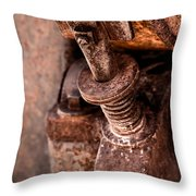 Rusted Gold Mine Equipment Throw Pillow