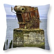 Rusted Equipment Throw Pillow