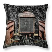 Rusted Old Tractor Throw Pillow