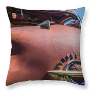Rusted Oldsmobile Throw Pillow
