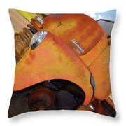 Rusted Out Chevrolet 5700 Throw Pillow by Liane Wright