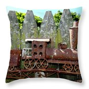 Rusted Rails Throw Pillow