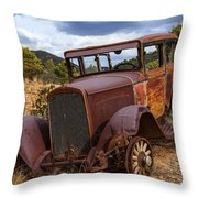 Rusted Respite Throw Pillow