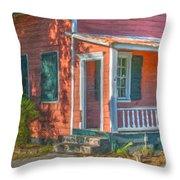 Rusted Tin Roof Throw Pillow