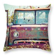 Rusted Truck Throw Pillow