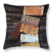 Rusted Usa Throw Pillow