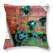 Rusted Valves Throw Pillow