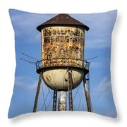 Rusted Water Tower Throw Pillow