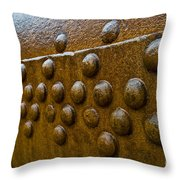 Rusted Whaling Machinery Throw Pillow