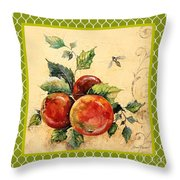 Rustic Apples On Moroccan Throw Pillow