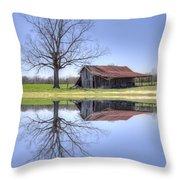 Rustic Barn Throw Pillow by David Troxel