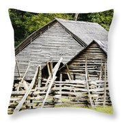 Rustic Barnyard Throw Pillow