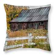 Rustic Berkshire Barn Throw Pillow