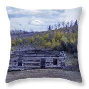 Rustic Cabin Throw Pillow
