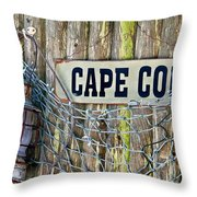 Rustic Cape Cod Throw Pillow by Bill Wakeley