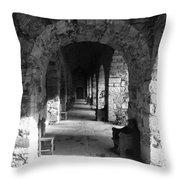 Rustic Castle Inn 3 Throw Pillow