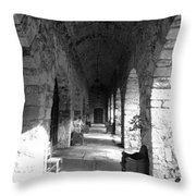 Rustic Castle Inn Hall 2 Throw Pillow
