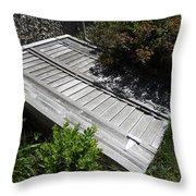 Rustic Cellar Door Throw Pillow
