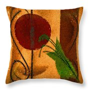 Rustic Elegance Geometric Autumn Abstract Throw Pillow