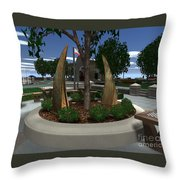 Rustic Embrace Throw Pillow