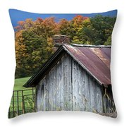 Rustic Farm Shed Throw Pillow
