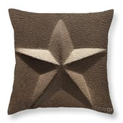Rustic Five Point Star Throw Pillow