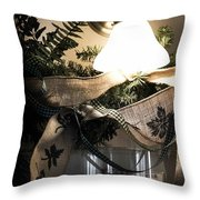 Rustic Holiday Throw Pillow
