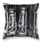 Rustic Lanterns Throw Pillow