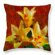 Rustic Lilies 2 Throw Pillow