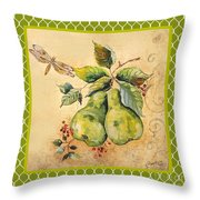 Rustic Pears On Moroccan Throw Pillow