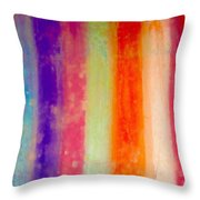 Rustic Rainbow Throw Pillow