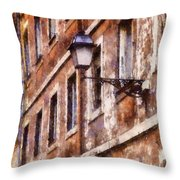 Rustic Rome Apartments Throw Pillow
