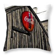 Rustic Throw Pillow by Scott Pellegrin