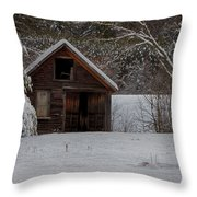 Rustic Shack After The Storm Throw Pillow