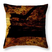 Rustic Steer Throw Pillow