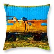 Rustic Tank Art Throw Pillow